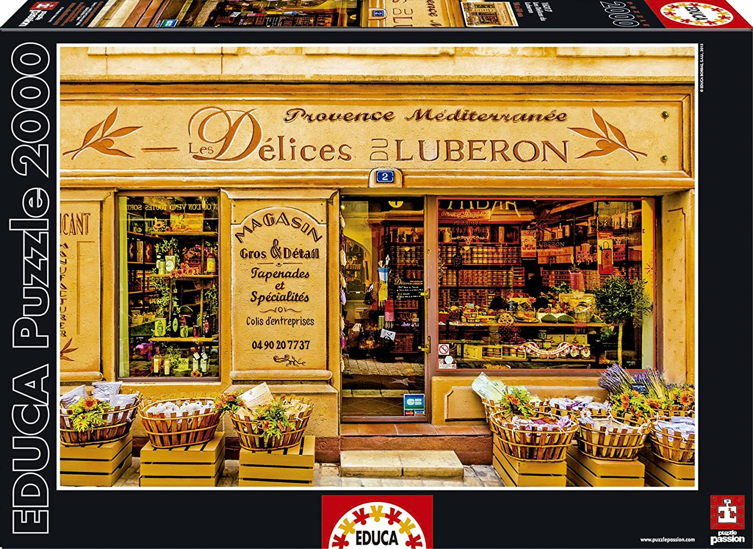 Educa The Delights of The Luberon Puzzle (2000 Piece), One Color