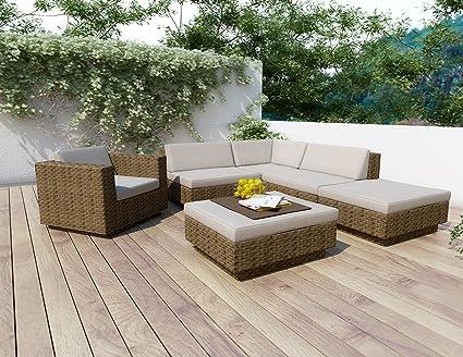 Amazon.com: Sonax z-373-tpp Park terraza 6-Piece Seccionales ...