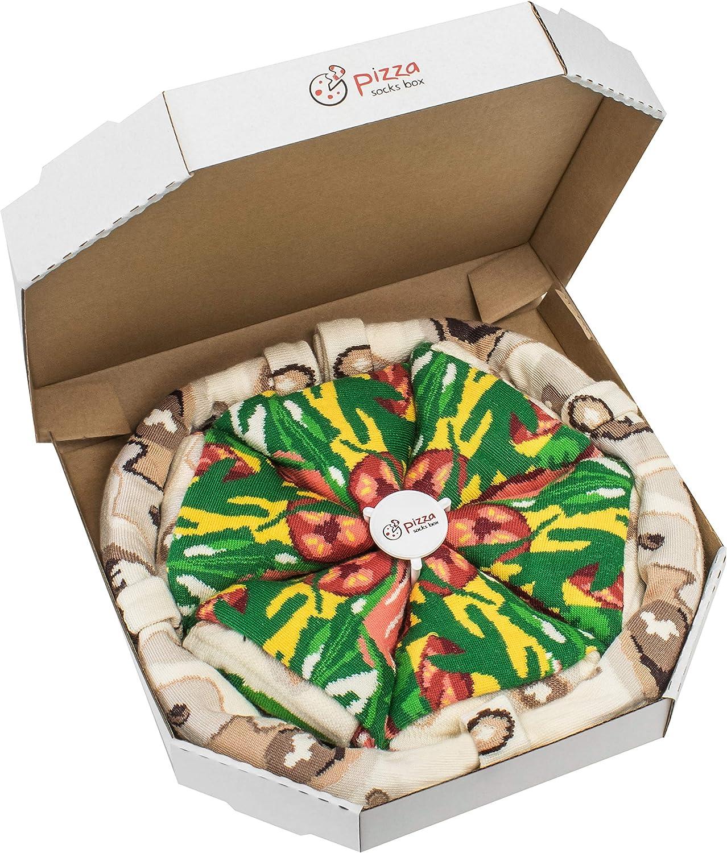 Rainbow Socks - Pizza Italiana Mujer Hombre - 4 pares de Calcetines: Amazon.es: Ropa y accesorios