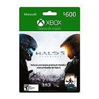 Xbox Live Tarjeta de Regalo $600 pesos + Tarjeta Metálica Halo 5 - Special Limited Edition