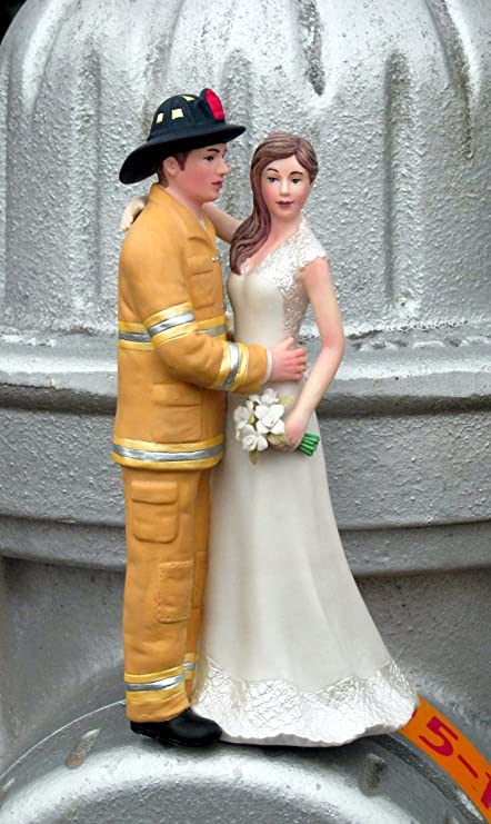 Firefighter Cake Topper Tan