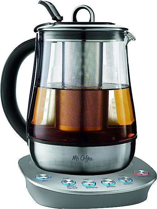 Mr. Coffee BVMC-HTKSS200 Hot Tea Maker and Kettle, Stainless Steel, 1