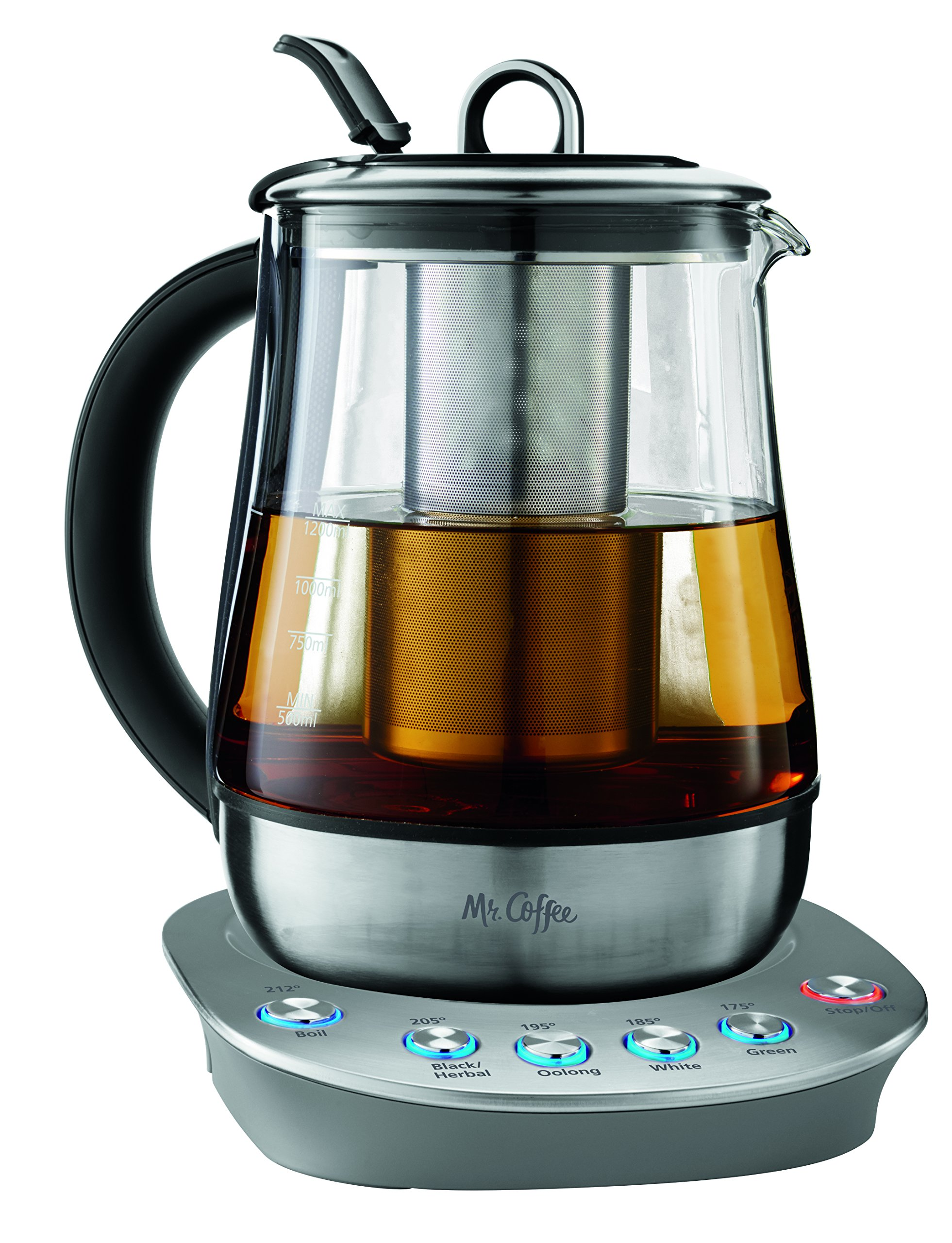 Mr. Coffee BVMC-HTKSS200 Hot Tea Maker and Kettle, Stainless Steel