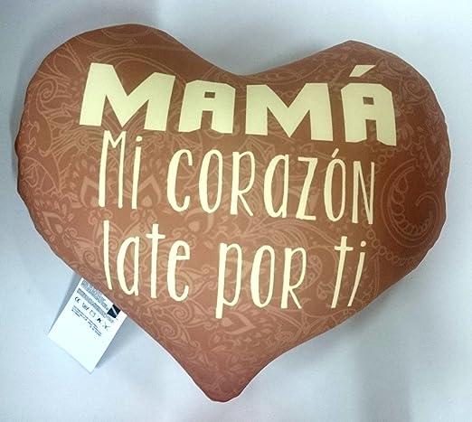LInformal Cojin corazón mamá mi corazón Late por ti: Amazon ...