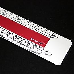 "Professional Metric 30cm 12"" Plastic Flat (Oval) Scale Ruler 1:1 1:5 1:20 1:50 1:100 1:200 1:1250 1:2500"