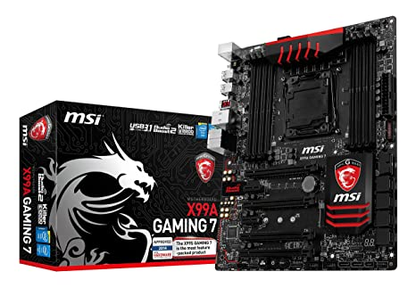 MSI X99A Gaming 7 - Placa Base Entusiasta (Chipset Intel X99, Memorias DDR4, Audio Boost 2, Killer E2200, Turbo M.2, Military Class 4)