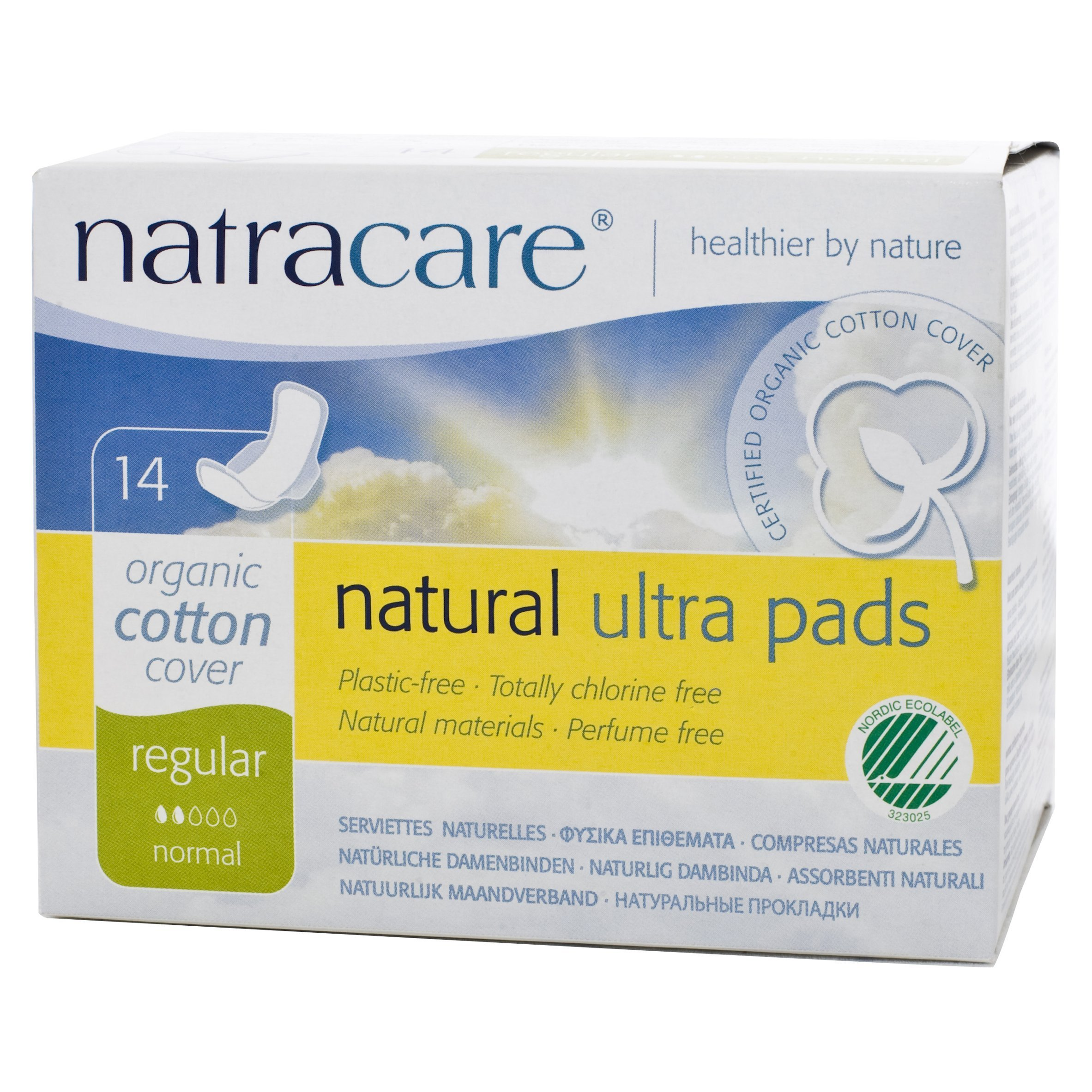 Natracare Natural Ultra Pads with Wings, Regular,  14 Count Boxes (Pack of 12)