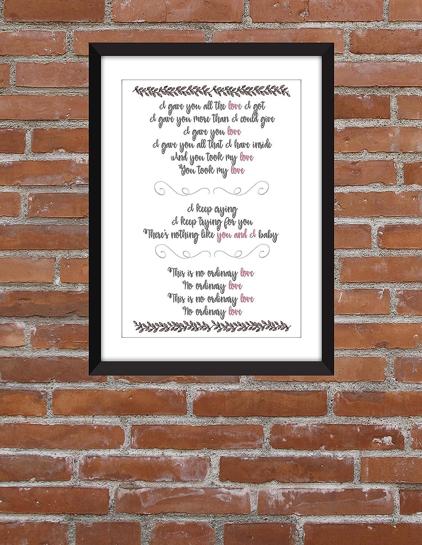 Sade No Ordinary Love Lyrics - Unframed Print: Amazon co uk
