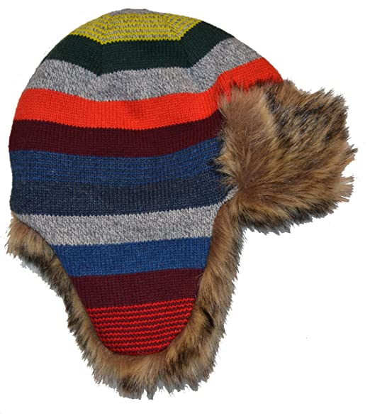 594068c29f5 Image Unavailable. Image not available for. Color  BabyGap Baby Gap Boys  Crazy Stripe Faux Fur Lined Trapper Hat ...
