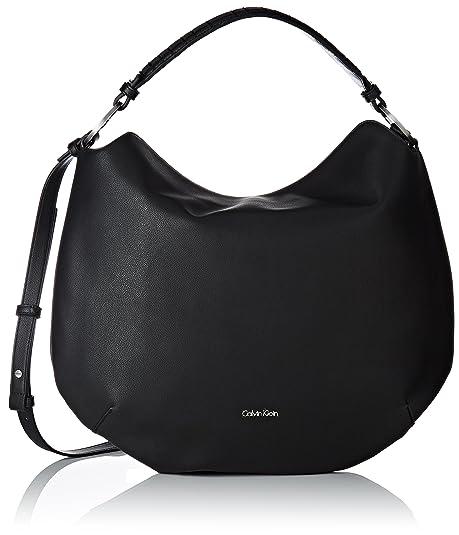 4d16eb99cb19 Calvin Klein Michelle Hobo, Borsa a mano donna Nero nero 6x40x42 cm (W x