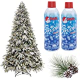 Prextex Christmas Artificial Snow Spray Pack of Two 13 Oz Aerosol Decoration Tree Holiday Winter Fake Crafts Winter Party Sno