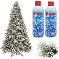 Prextex Christmas Artificial Snow Spray Pack of Two 13 Oz Aerosol Decoration Tree Holiday Winter Fake Crafts Winter Party Snow Santa Snow Nieve (13 OZ)