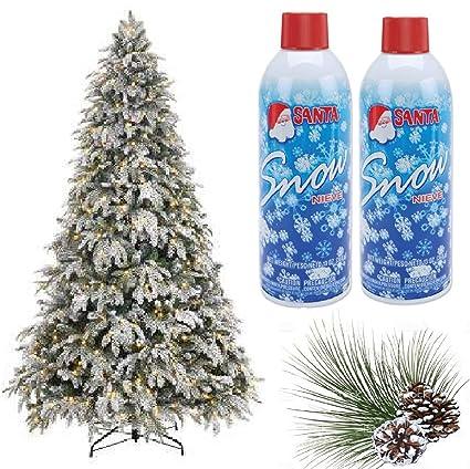 Amazon.com: Prextex Christmas Artificial Snow Spray Pack of Two 13 ...
