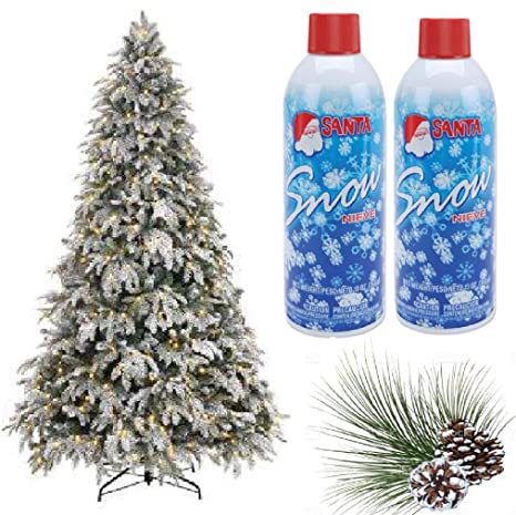 Plastic Christmas Tree.Prextex Christmas Artificial Snow Spray Pack Of Two 13 Oz Aerosol Decoration Tree Holiday Winter Fake Crafts Winter Party Snow Santa Snow Nieve 13