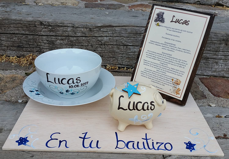 Regalo Bautizo 1 personalizado con el nombre del niño LyL Creaciones