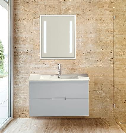 Sasha 36 Floating Wall Hung Bathroom Vanity With Sink Top Gray