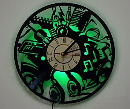 Amazon led light wall lamp night light musical instruments led light wall lamp night light musical instruments wall clock cool living aloadofball Image collections