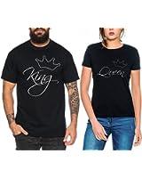 5XL Insta Shirts Hochzeitsgeschenk T Shirt King Queen Motiv Partnerlook Love XS