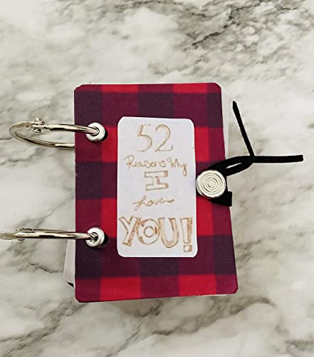unique handmade gifts gifts for her anniversaries! gifts for him Valentines gift ideas 52 reasons I love You playing deck of cards book