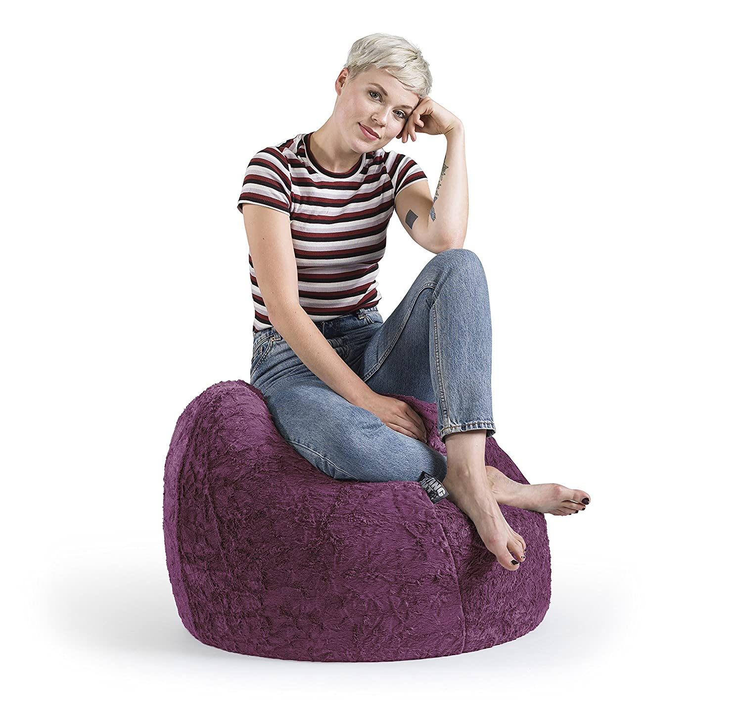 Sitting Point Sitzsack Fluffy Xl Ca 220 Liter Liter 220 Smaragd