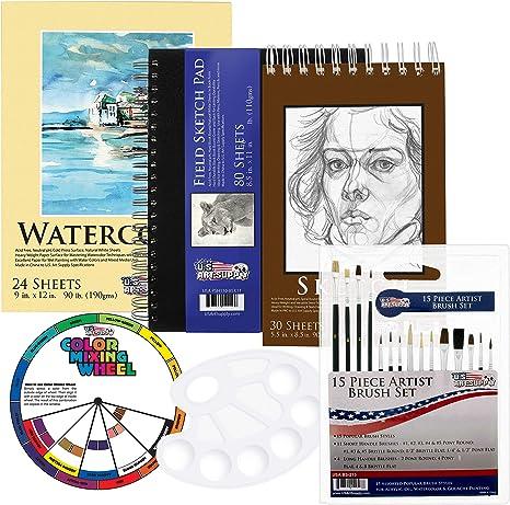 Suministro de arte nos 20 piezas artista dibujo, dibujo y pintura ...