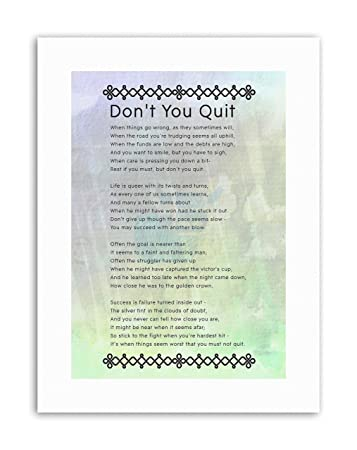 amazon dont you quit poem motivation typography quote motivational
