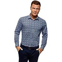 oodji Ultra Hombre Camisa Básica Entallada