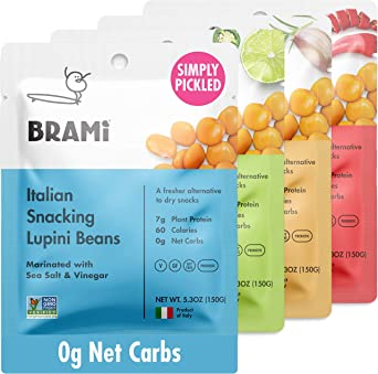 BRAMI Lupini Beans Snack, paquete variado | 7 g de proteína ...