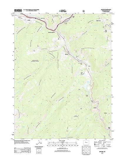 Minturn Colorado Map.Amazon Com Topographic Map Poster Minturn Co Tnm Geopdf 7 5x7 5