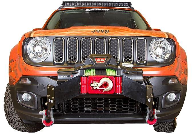 Daystar, Jeep Renegade cabrestante Bumper para 2015 A 2017 2/4WD, no aptas para Trailhawk modelo, kj50000bk, hecho en América: Amazon.es: Coche y moto
