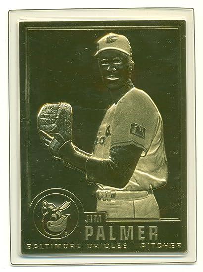 1996 Cmg Worldwide Jim Palmer 22kt Gold Foil Card