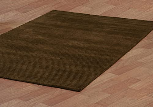 Brown Pulse 5 X 8 Hand Tufted Wool Rug