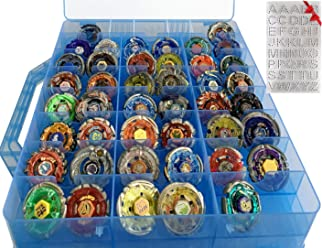 34 Adjustable Compartments Compatible with Bakugan HOME4 Double Sided BPA Free Toy Storage Container Toy Organizer Carrying Case Mini Toys Small Dolls