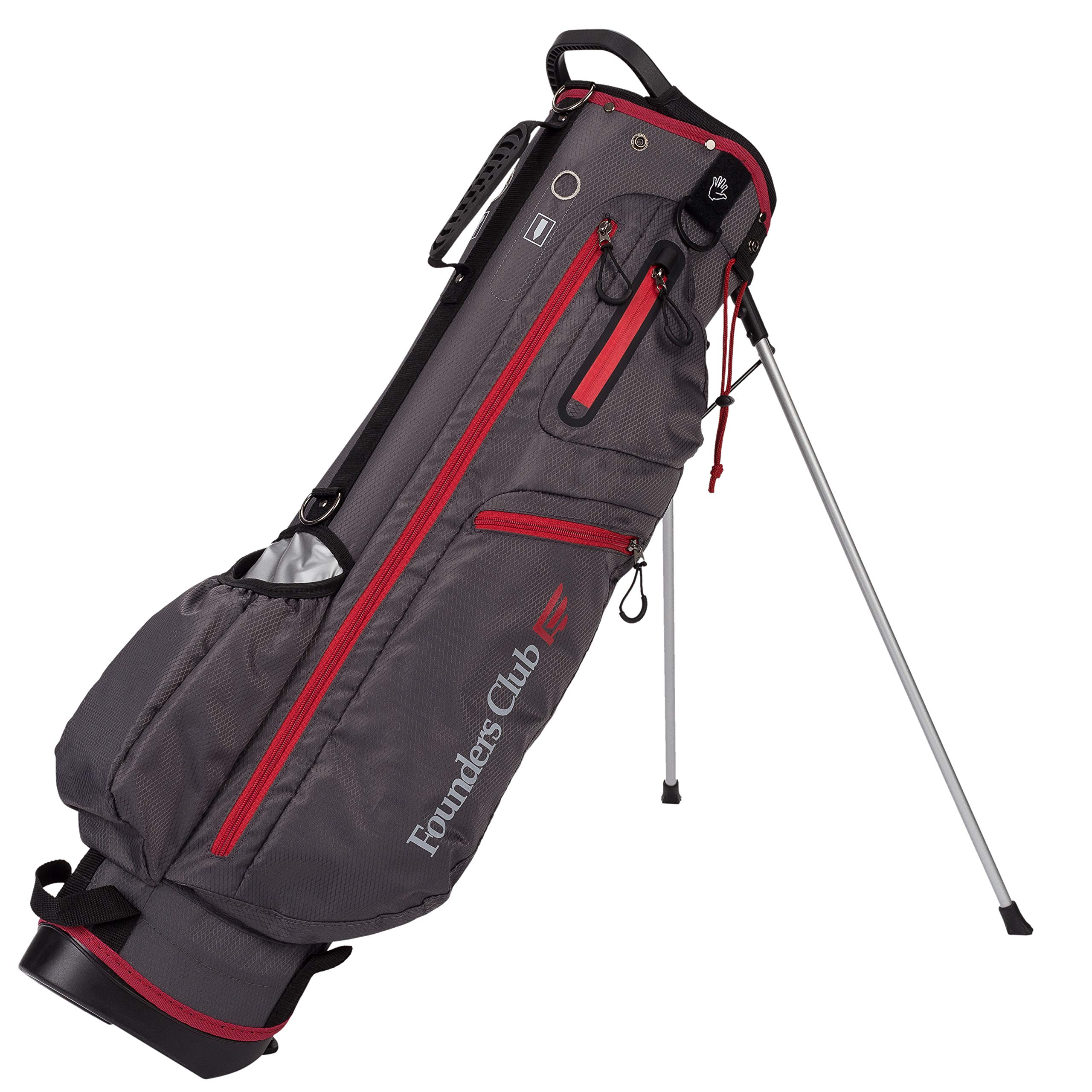 Founders Club 7'' Mini Light Weight Golf Stand Bag (Charcoal)