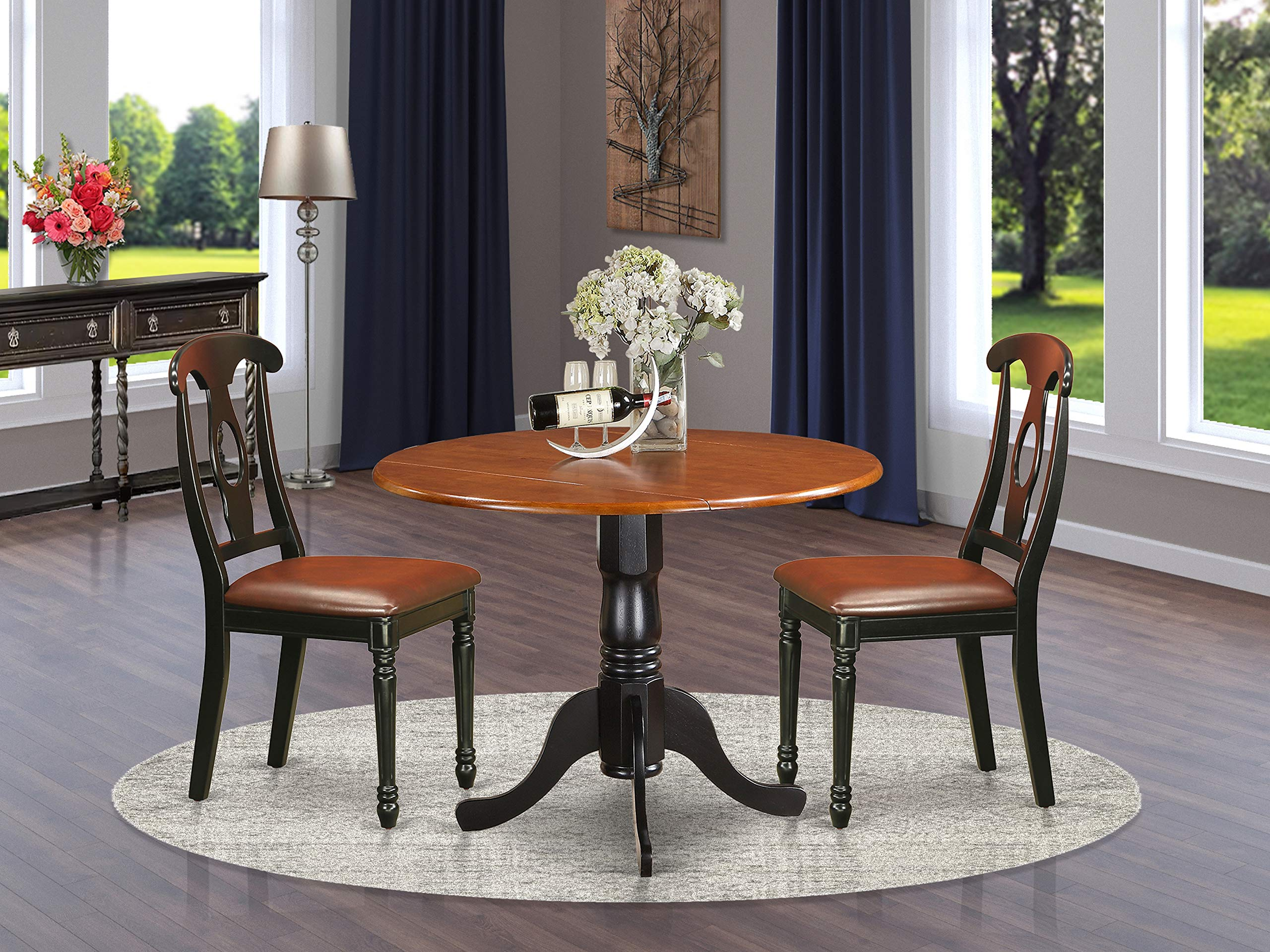 10 PC Kitchen Table set-Dining Table and 10 Kitchen Chairs