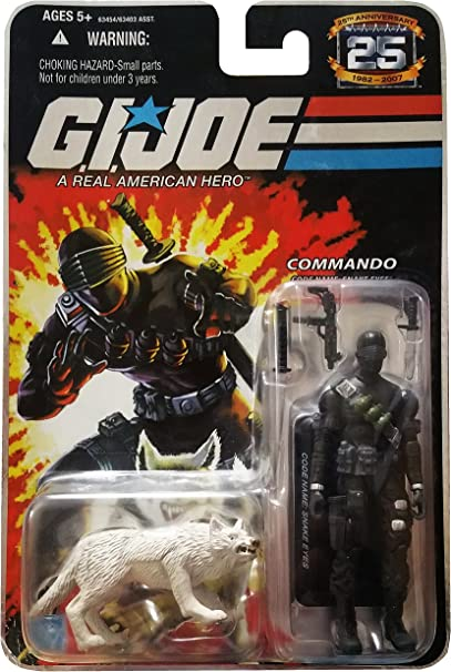 GI Joe 25th Anniversary: Snake Eyes (Commando) & Timber Wolf 3.75 Inch Action Figure