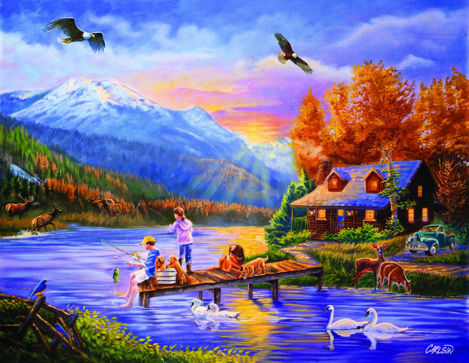 Grandpa's Cabin a 1000-Piece Jigsaw Puzzle by Sunsout Inc. by SunsOut