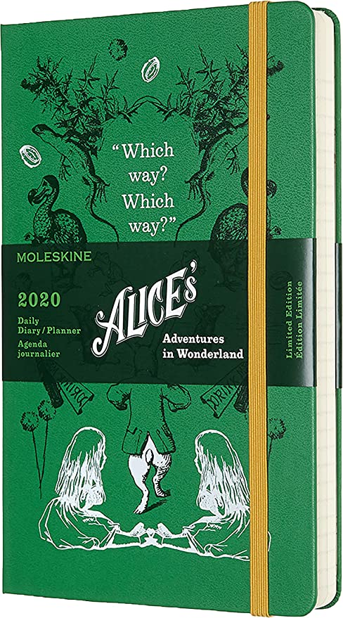Moleskine Limited Edition Alice in Wonderland 12 Month 2020 Daily Planner, Hard Cover, Large (5