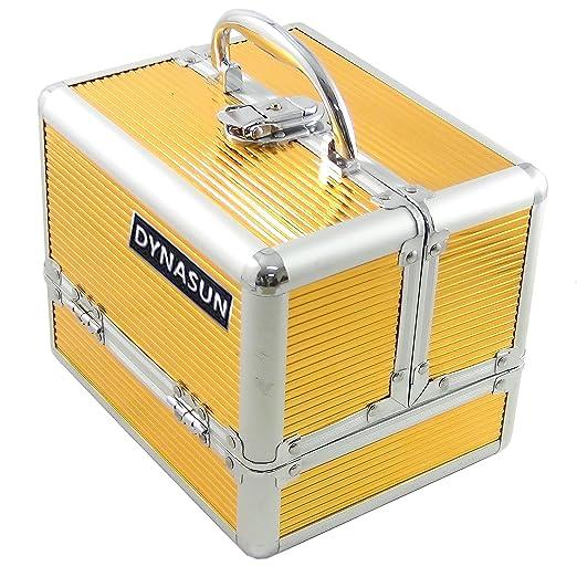 44 opinioni per DynaSun Bs35 Beauty Case Make Up Nail Art Porta Gioie, Gold, L