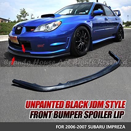 b3726ba9f29 Amazon.com  EpandaHouse For 06-07 Impreza WRX STi S204 Style Paintable Front  Bumper Lip Spoiler Body Kit  Automotive