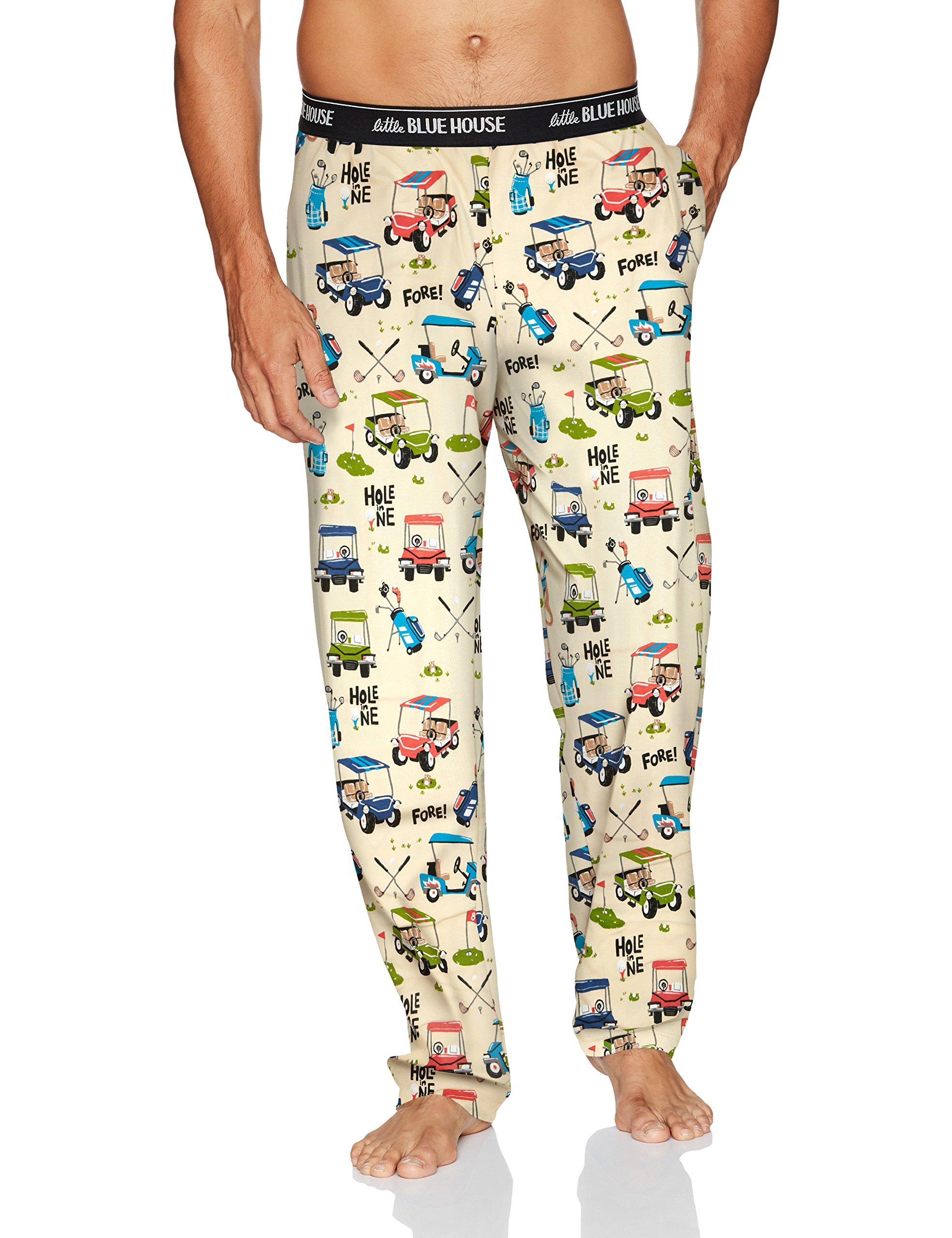 Little Blue House by Hatley Mens Jersey Pajama Pants Pajama Bottom