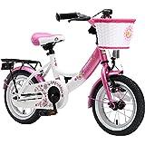 Bikestar 12 inch (30.5 cm) Kids Childrens Girls Bike Bicycle - Classic - Pink / White