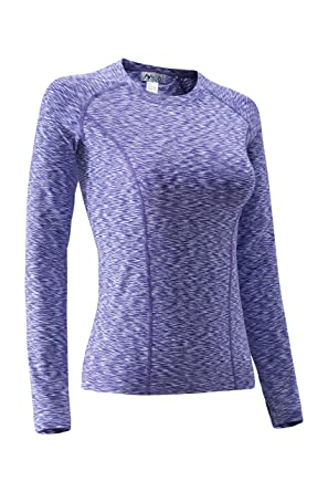 386e68092173d Nooz Women's Dry Fit Athletic Compression Long Sleeve T Shirt