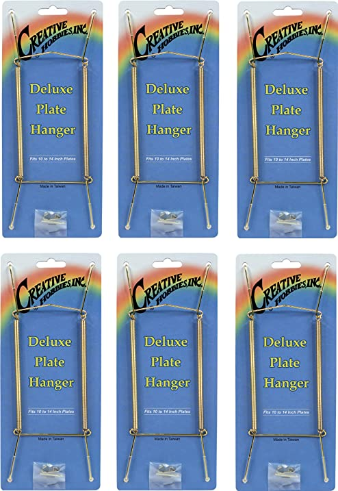 Amazon.com: Creative Hobbies Deluxe Plate Display Hangers, Spring ...