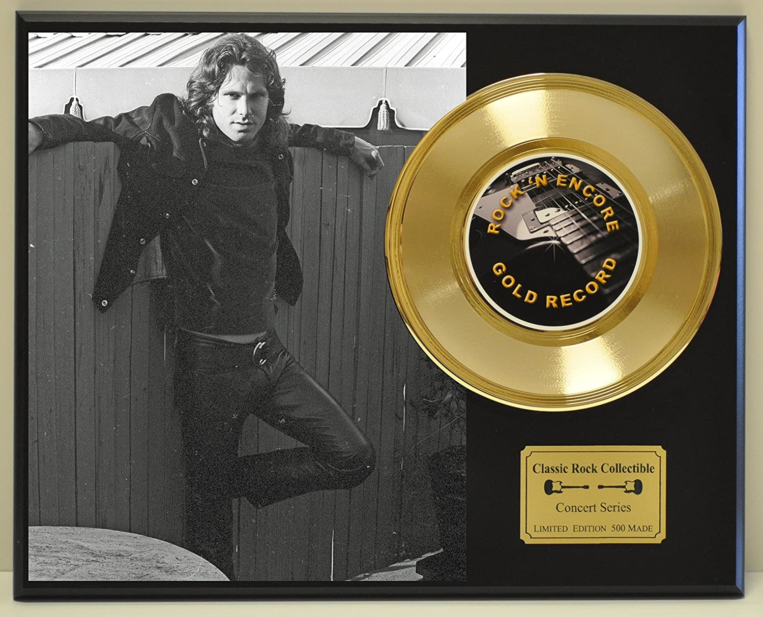 Jim Morrison Limited Edition Gold 45 Record Display. Only 500 made. Limited quanities. FREE US SHIPPING Classic Rock Collectibles