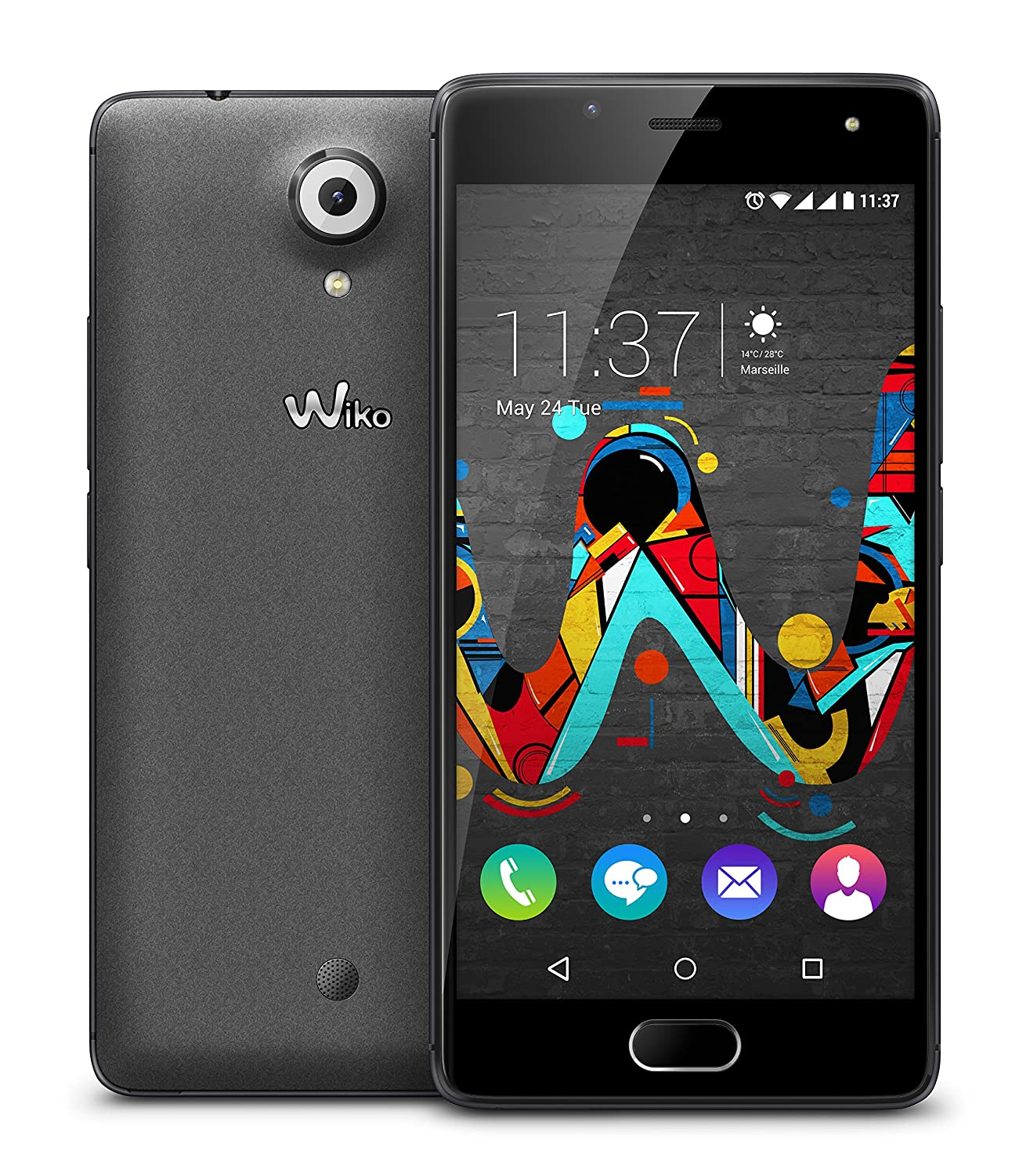 Wiko U Feel - Smartphone (SIM doble, Android 6.0, MicroSIM, RAM de 3 GB), color negro