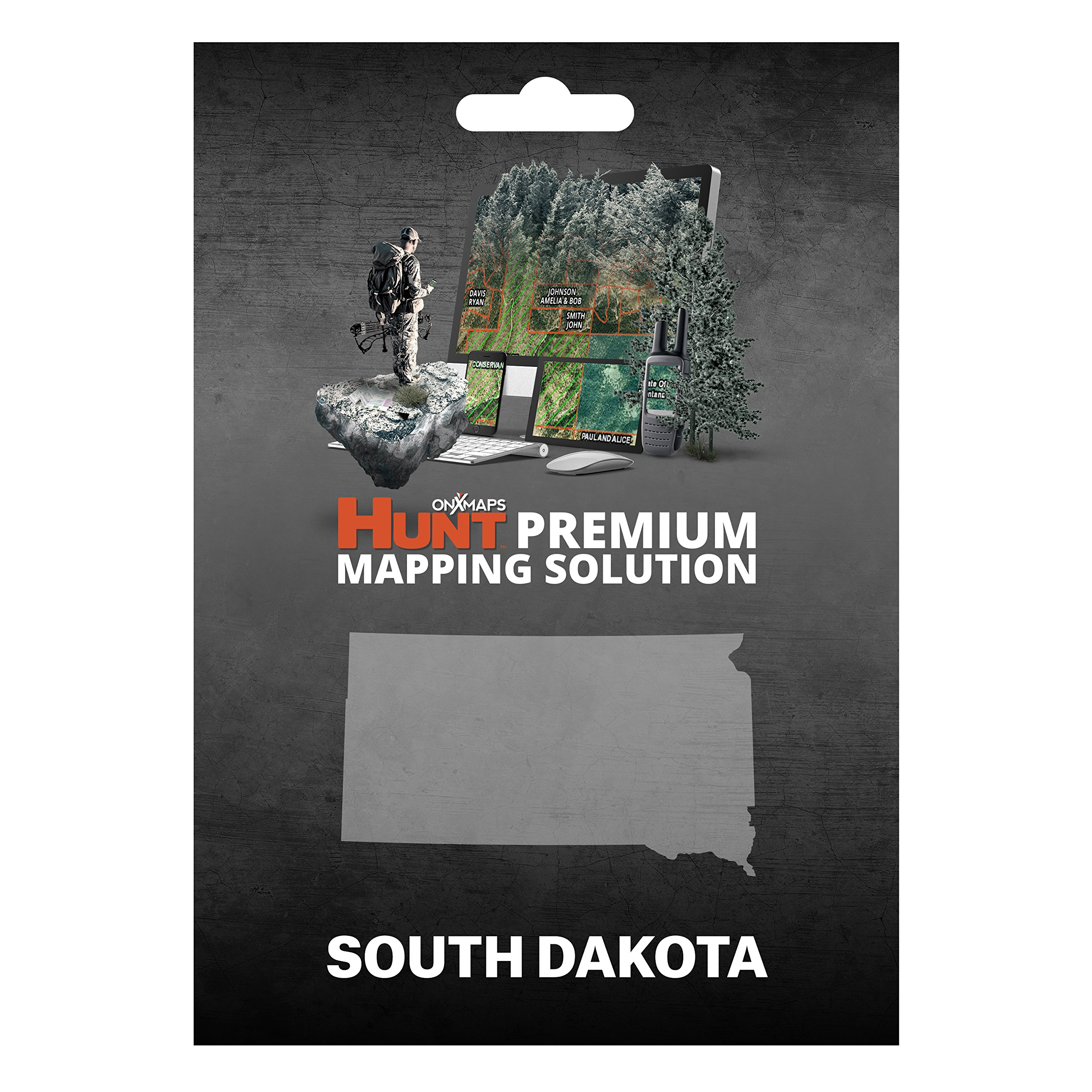 onXmaps HUNT South Dakota: Digital Hunting Map For Garmin GPS + Premium Membership For Smartphone and Computer - Color Coded Land Ownership - 24k Topo - Hunting Specific Data