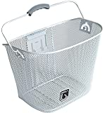Biria Basket with Bracket White, Front Quick Release Basket, Removable, Wire Mesh Bicycle basket , NEW, WHITE