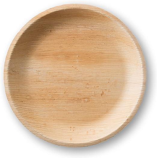 25 Pcs, 10 Inch Palm Leaf Plates Disposable Plates | Eco-Friendly Party Plates Buffet Plates Premium Quality Biodegradable Compostable Areca Palm Leaf Round Plate Eco Friendly Party Plates