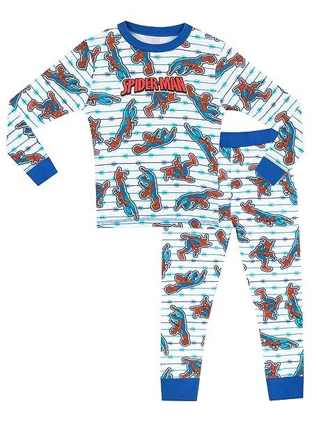 El Hombre Araña - Pijama para Niños - Spiderman - Ajuste Ceñido - 9 - 11